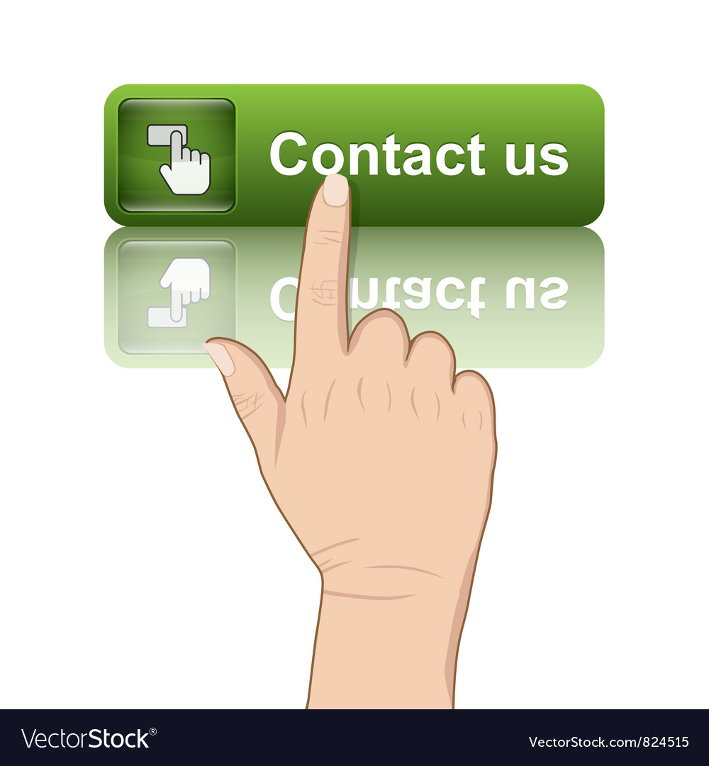 Hand push contact button vector | Price: 1 Credit (USD $1)