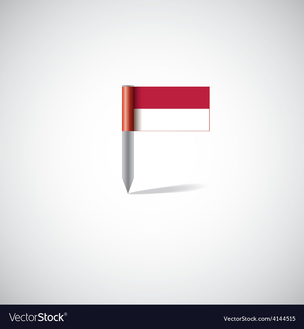 Indonesia flag pin vector | Price: 1 Credit (USD $1)