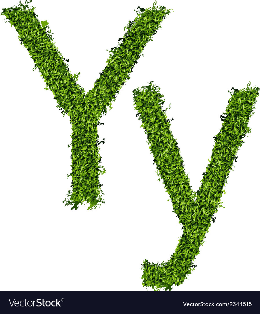 Isolated grass alphabet on white background vector | Price: 1 Credit (USD $1)