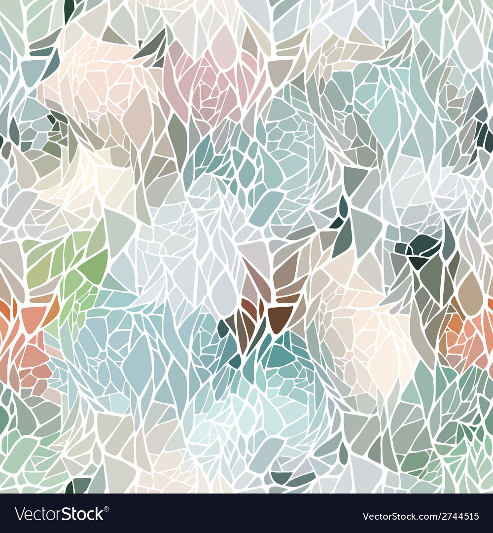 Seamless pattern with mosaic abstract geometric vector | Price: 1 Credit (USD $1)