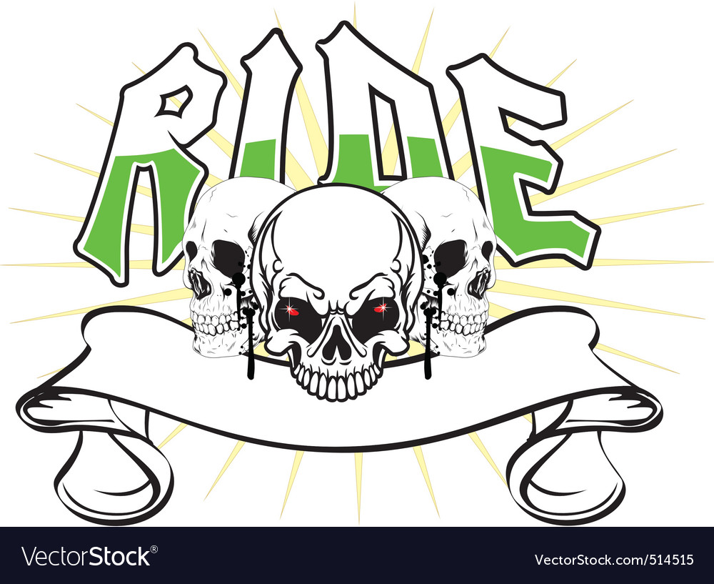 Skulls ride vector | Price: 1 Credit (USD $1)
