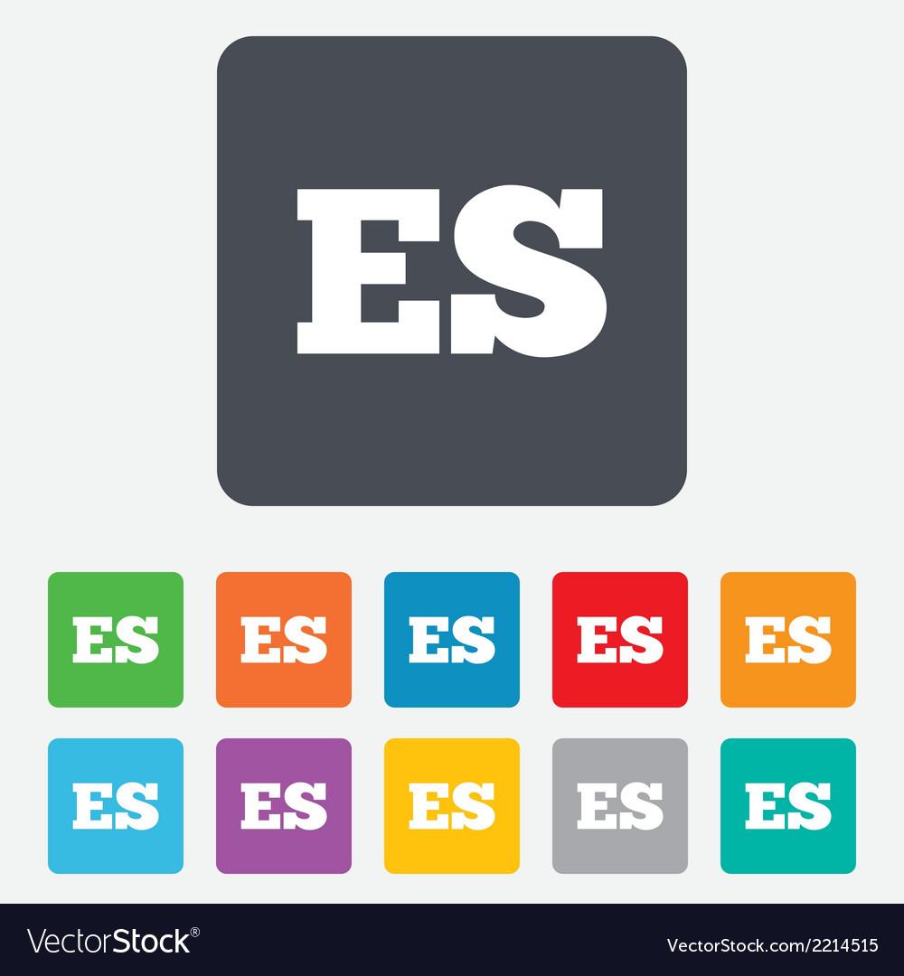 Spanish language sign icon es translation vector | Price: 1 Credit (USD $1)