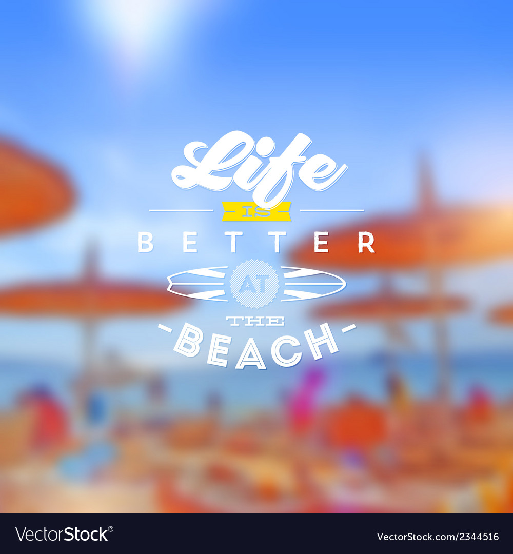 Beach vacation type design vector | Price: 1 Credit (USD $1)