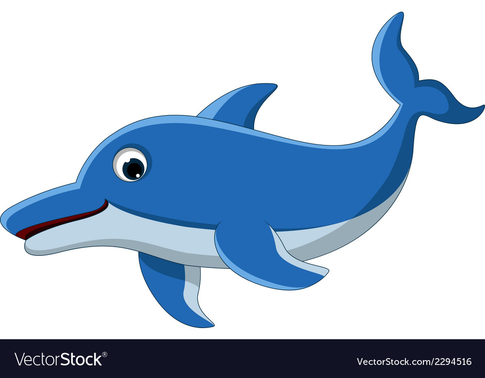 Dolphin cartoon for you design vector | Price: 1 Credit (USD $1)