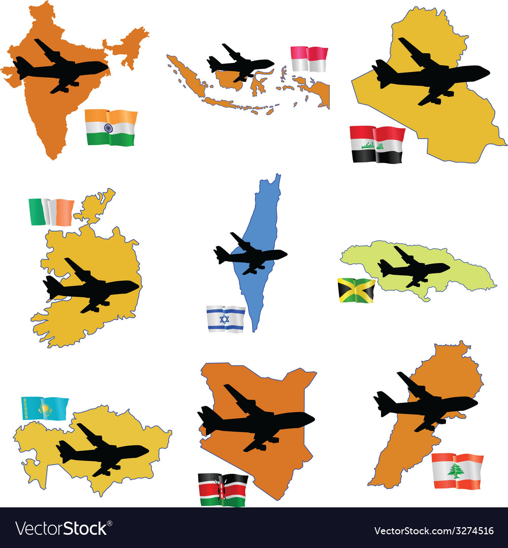 Fly me to the india indonesia iraq ireland israel vector | Price: 1 Credit (USD $1)