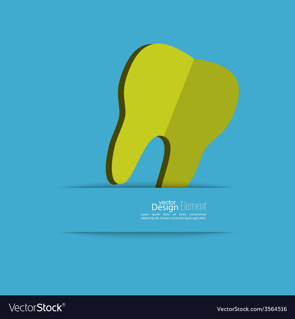 Human tooth with a ribbon vector   Price: 1 Credit (USD $1)