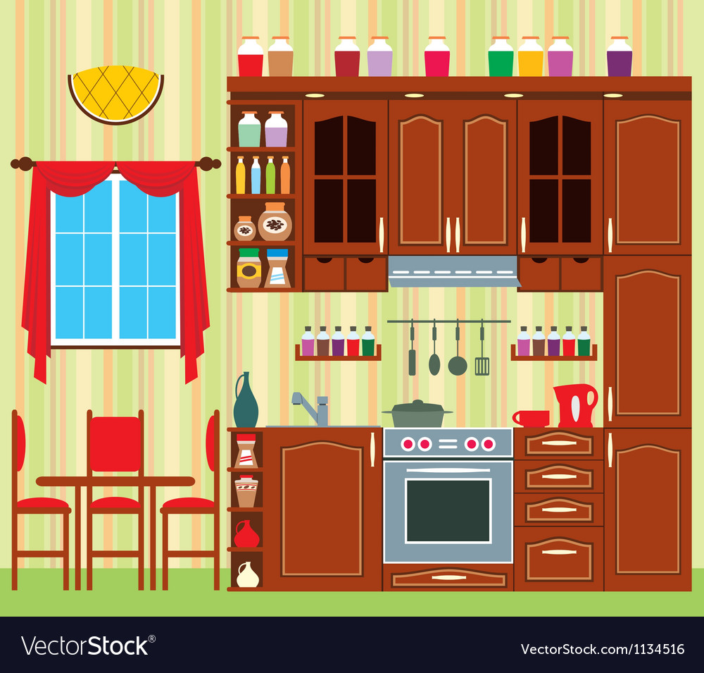 Kitchen furniture vector | Price: 1 Credit (USD $1)