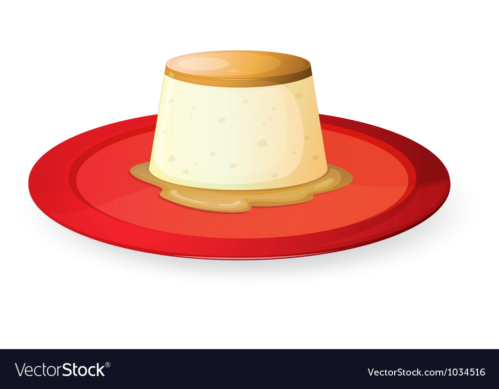 Pudding in red dish vector | Price: 1 Credit (USD $1)