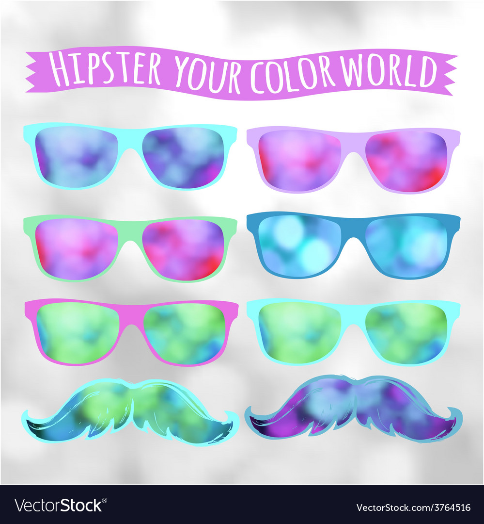 Retro hipster glasses lifestyle vector | Price: 1 Credit (USD $1)