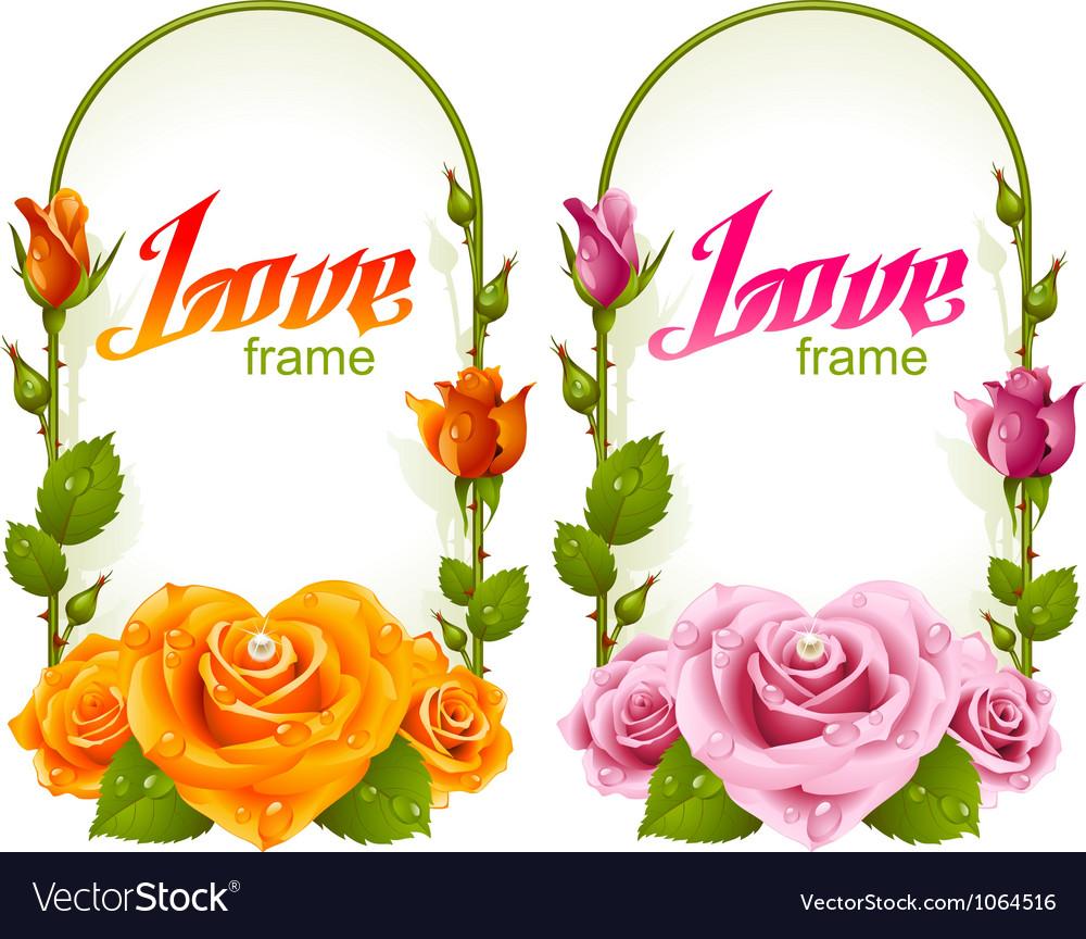 Rose frames vector | Price: 1 Credit (USD $1)