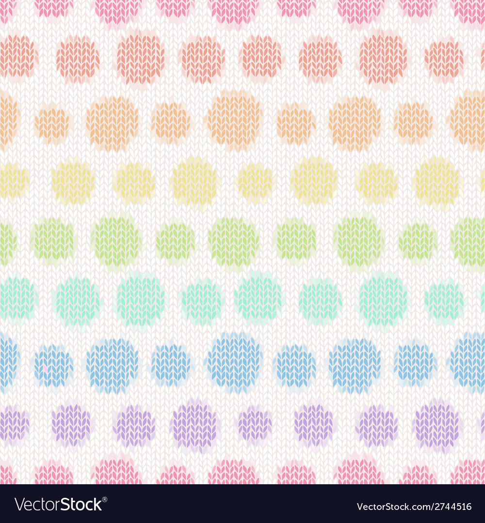 Seamless pattern with knitted polka dots textile vector | Price: 1 Credit (USD $1)