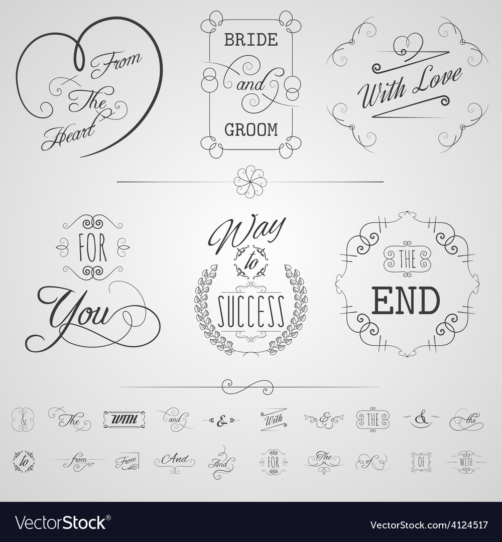 Calligraphy elements set vector | Price: 1 Credit (USD $1)