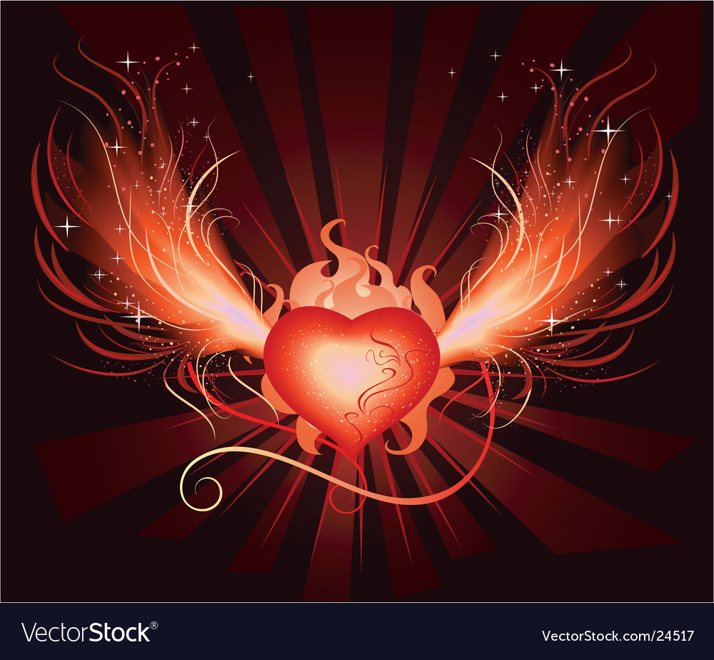Heart phoenix vector | Price: 1 Credit (USD $1)