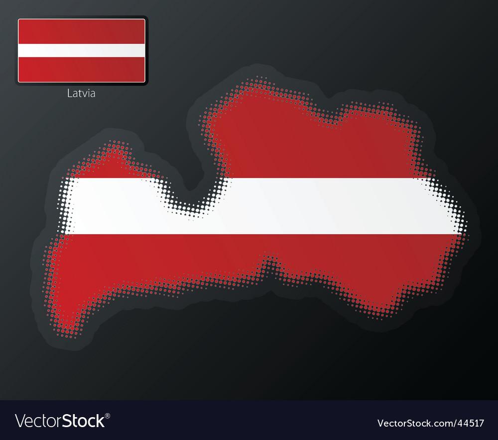Latvia map vector | Price: 1 Credit (USD $1)