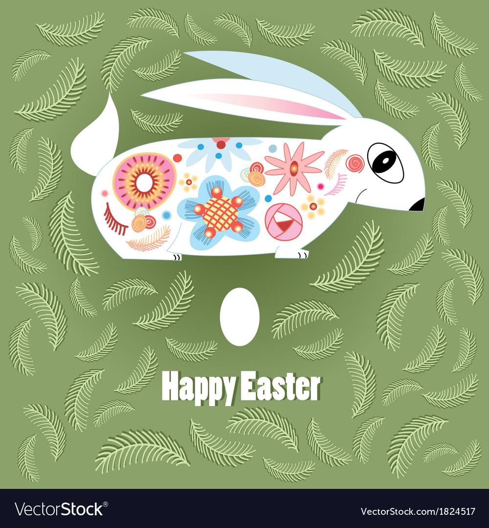 Ornamental easter bunny vector | Price: 1 Credit (USD $1)