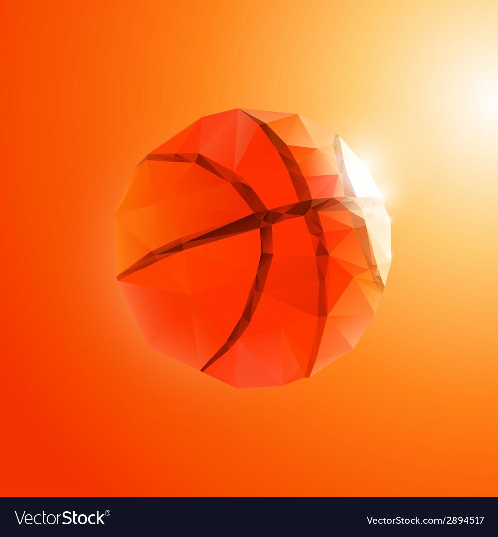 Polygon basketball vector | Price: 1 Credit (USD $1)