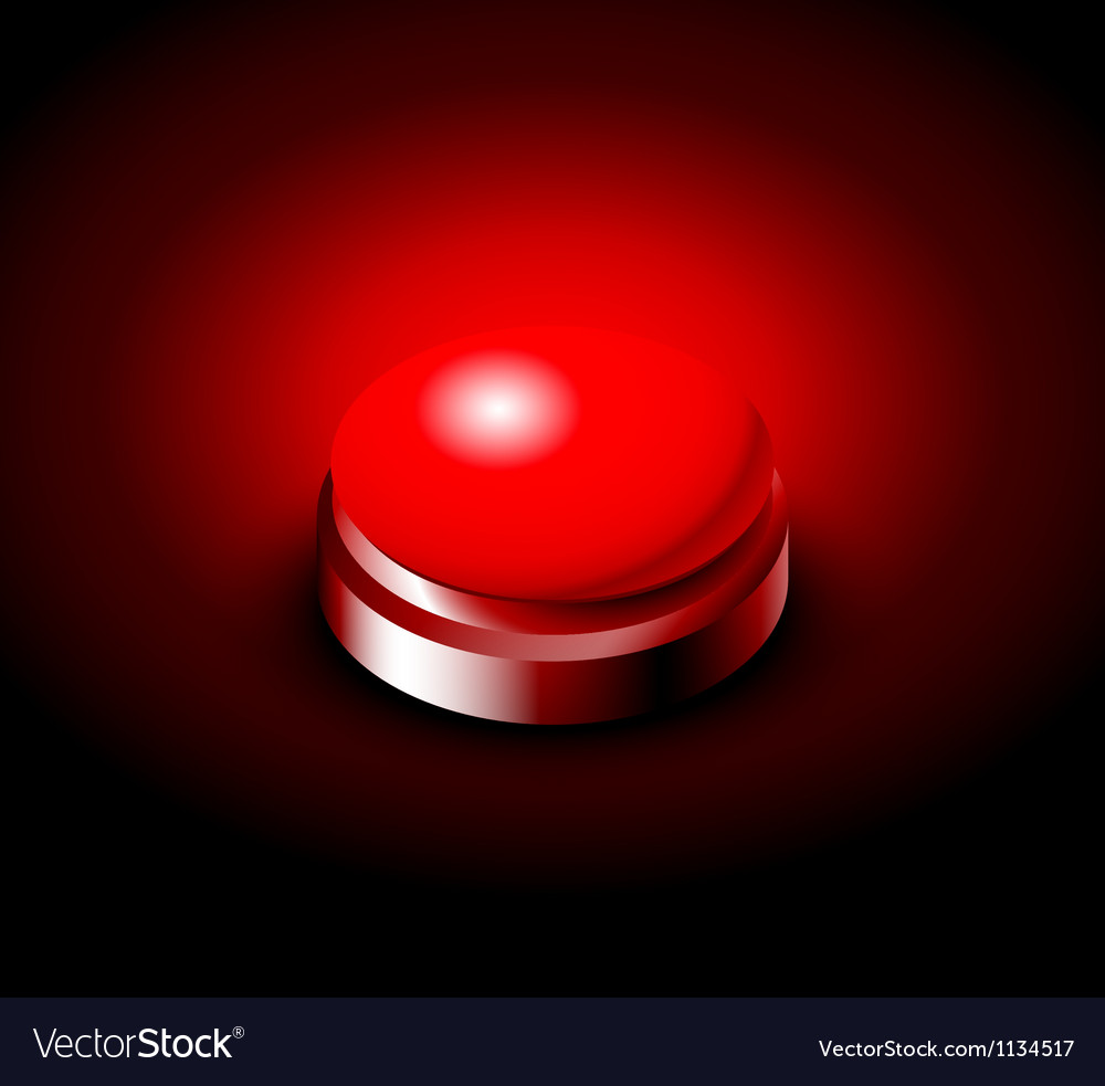 Pressed button with red light vector | Price: 1 Credit (USD $1)