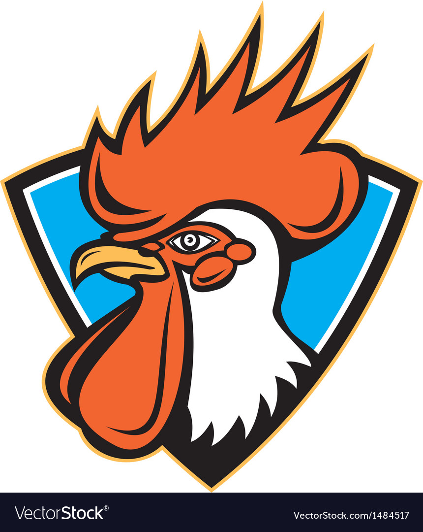 Rooster cockerel head crest vector | Price: 1 Credit (USD $1)