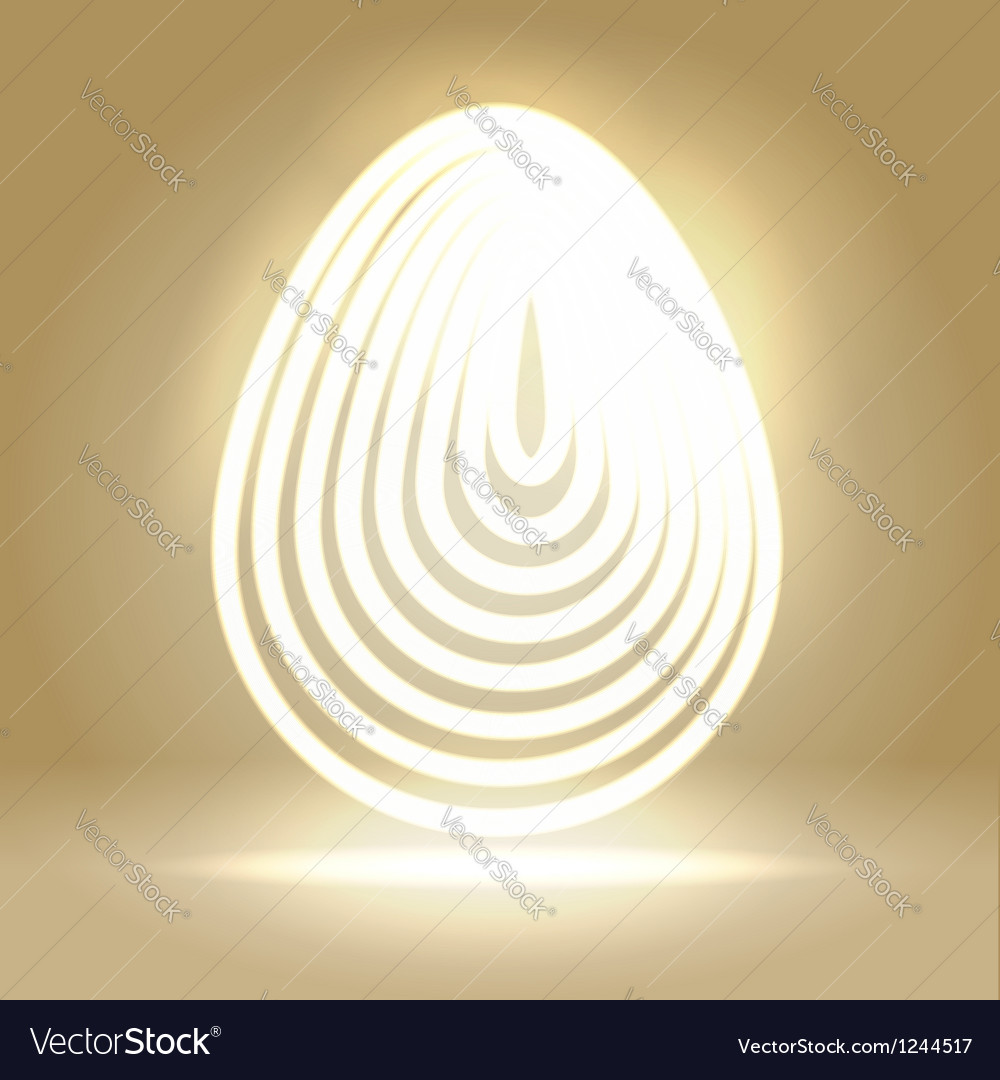 Shining wired egg background vector | Price:  Credit (USD $)