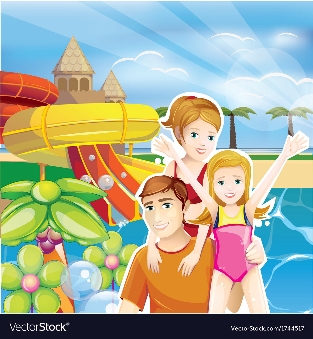 Summer family vector | Price: 3 Credit (USD $3)