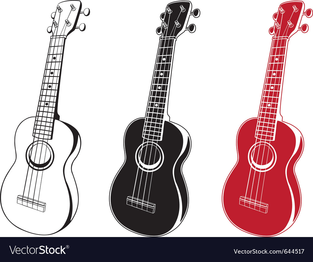 Ukulele set vector | Price: 1 Credit (USD $1)