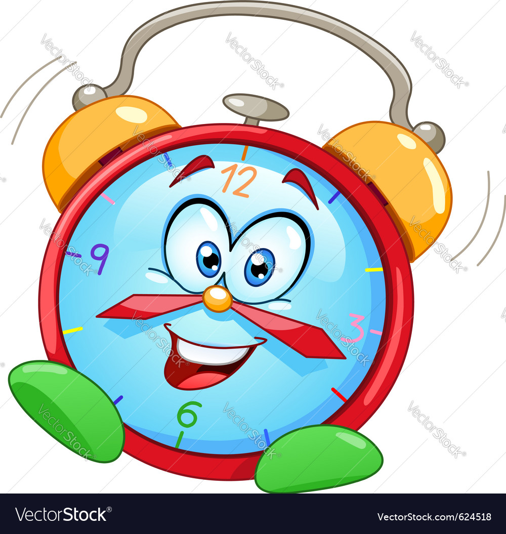 Cartoon alarm clock vector | Price: 3 Credit (USD $3)