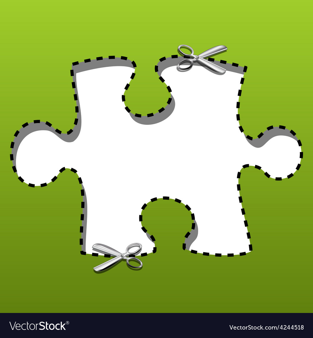 Coupon borders puzzles vector | Price: 1 Credit (USD $1)