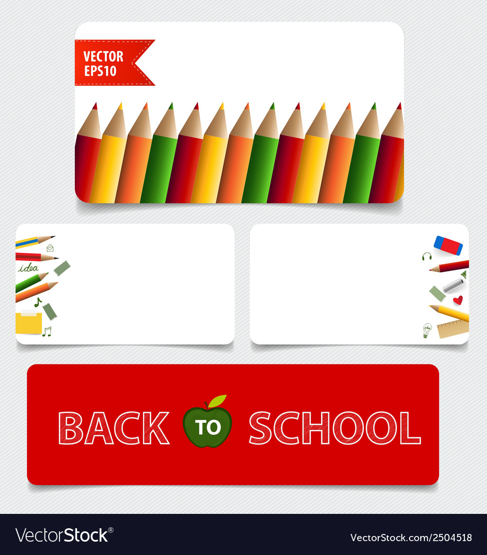 Cute note papers welcome back to school vector   Price: 1 Credit (USD $1)