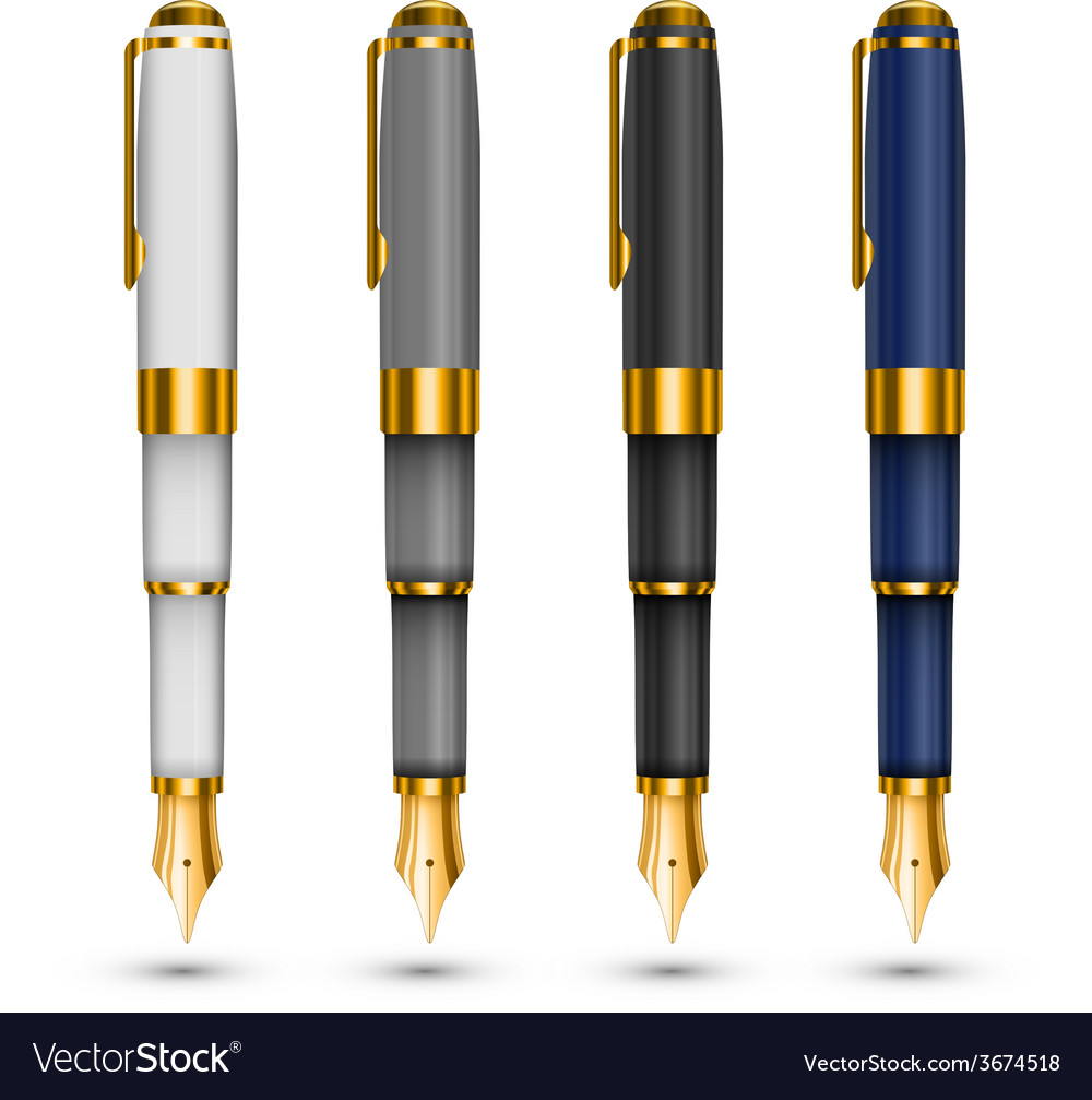 Expensive pens vector | Price: 1 Credit (USD $1)