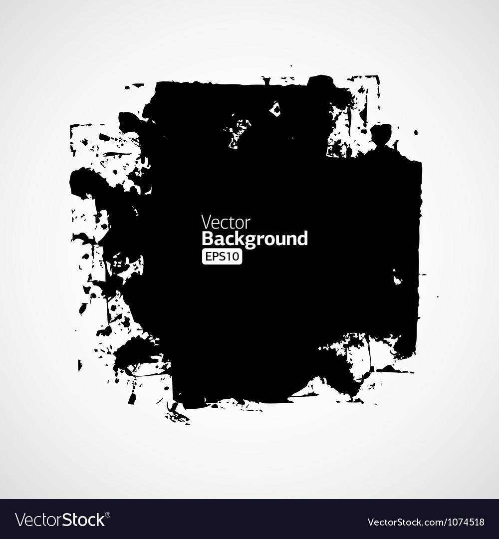 Ink splat banner with grunge effect in black vector | Price: 1 Credit (USD $1)