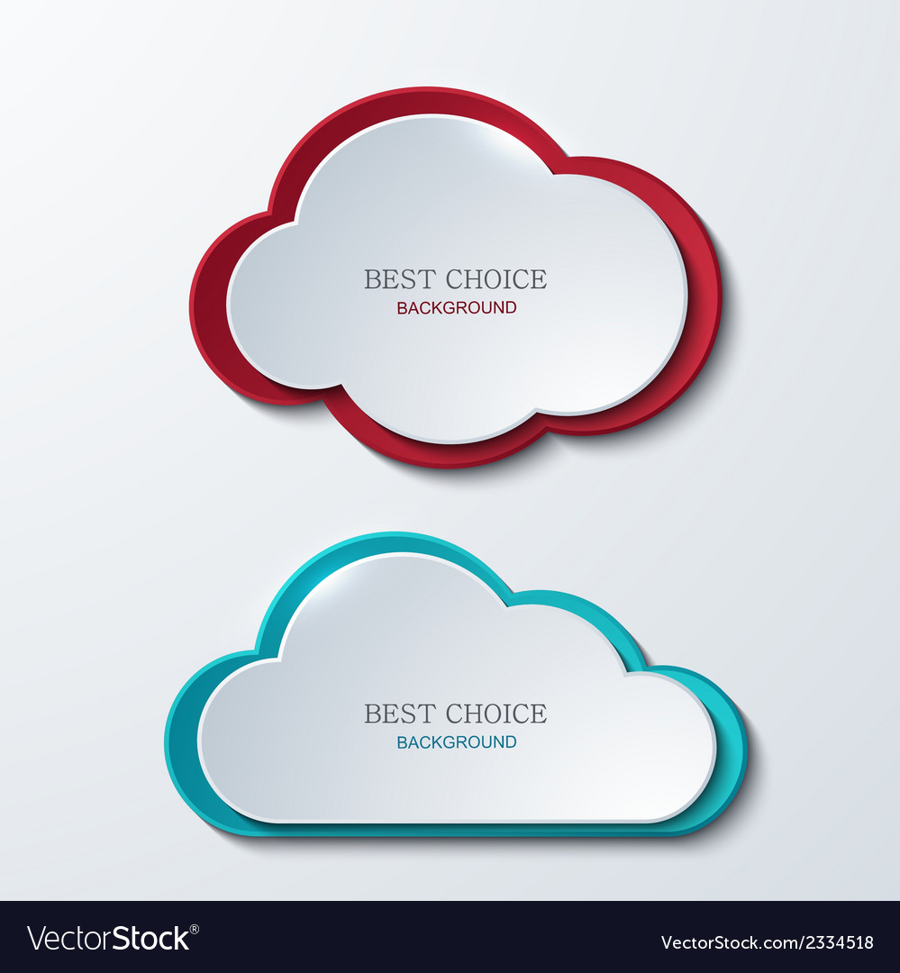 Modern clouds banners set vector | Price: 1 Credit (USD $1)