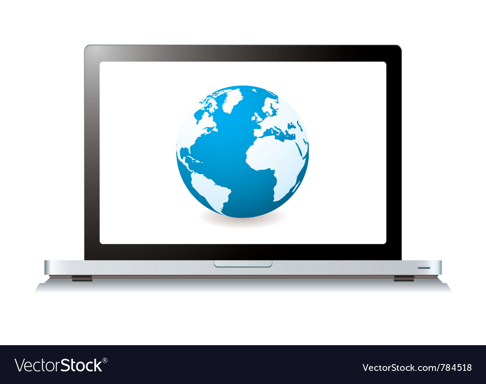 Modern laptop with world wide web vector | Price: 3 Credit (USD $3)