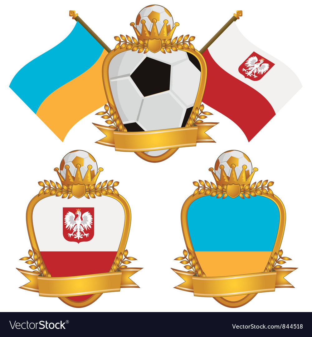 Poland and ukraine emblems vector | Price: 3 Credit (USD $3)