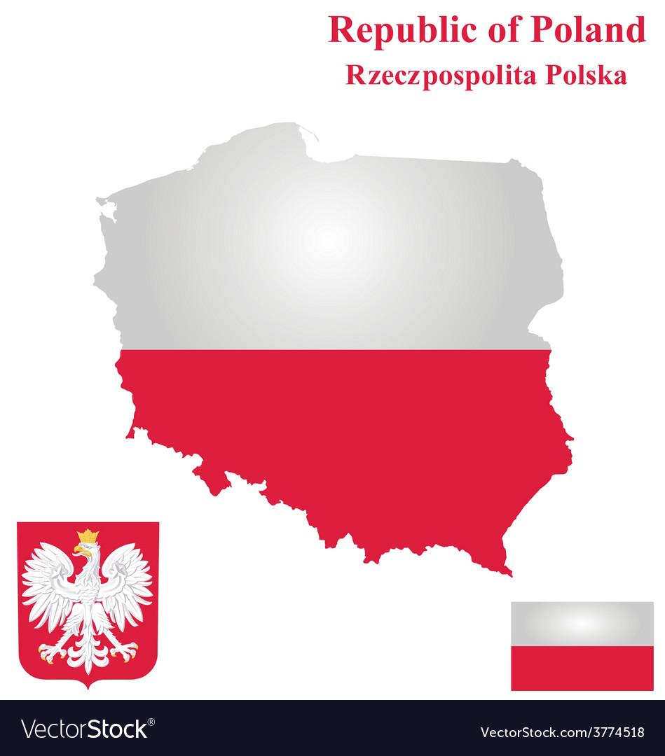 Republic of poland flag vector | Price: 1 Credit (USD $1)