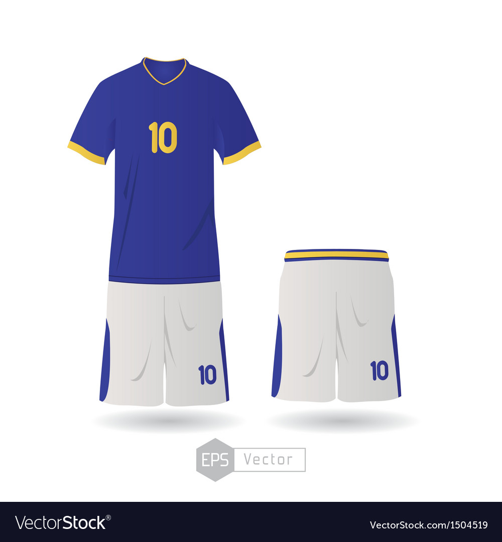 Brazil team uniform vector | Price: 1 Credit (USD $1)