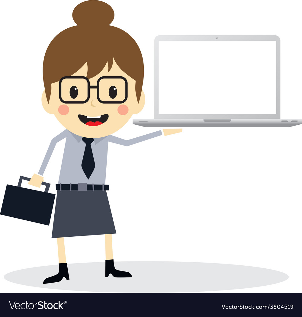 Business presentation cartoon character vector | Price: 1 Credit (USD $1)