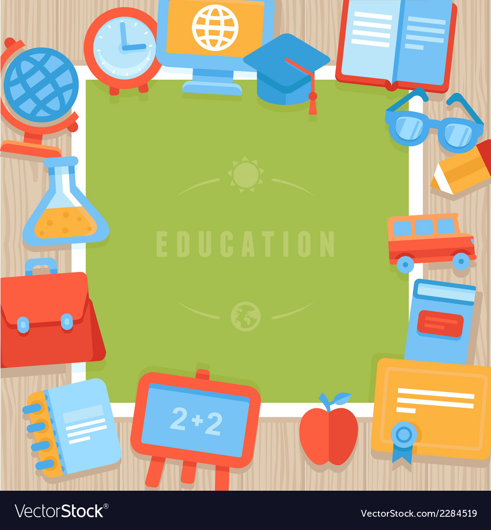 Education greeting card vector | Price: 1 Credit (USD $1)