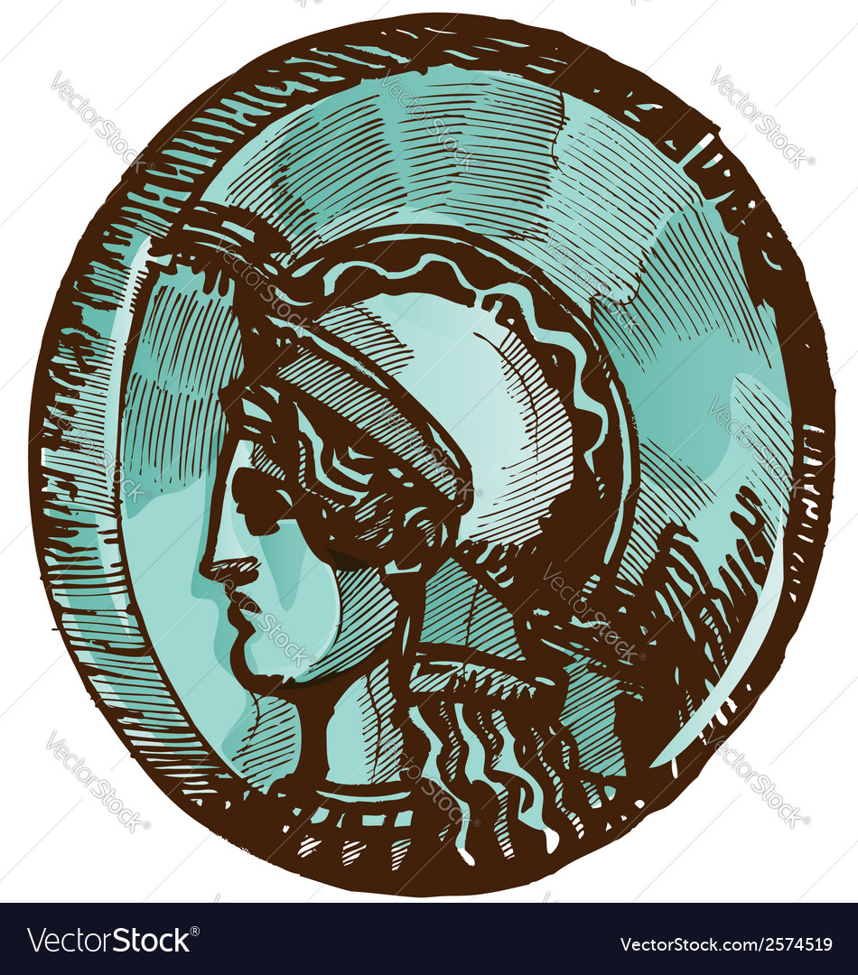 Greek old coin vector | Price: 1 Credit (USD $1)