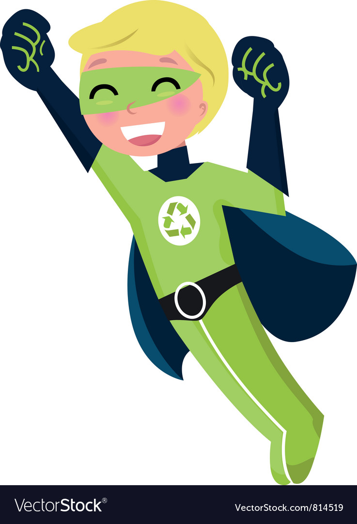 Green super hero boy vector | Price: 1 Credit (USD $1)
