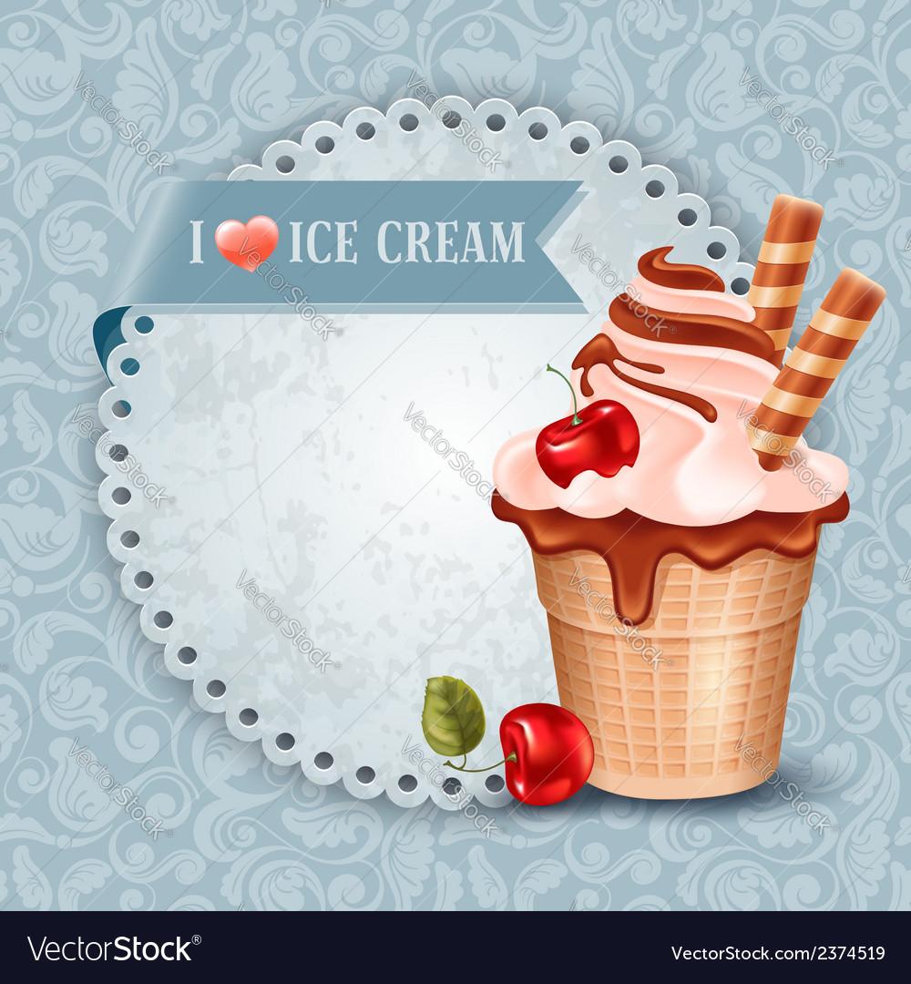 Ice cream vector | Price: 3 Credit (USD $3)