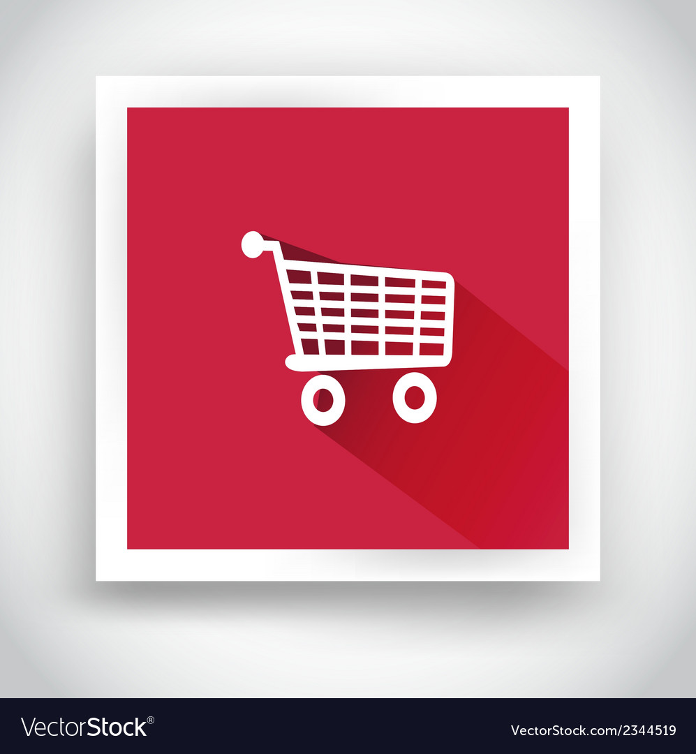 Icon of shopping cart for mobile applications vector | Price: 1 Credit (USD $1)
