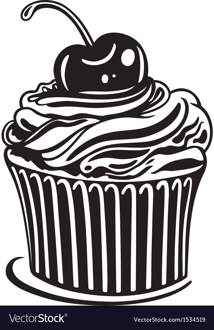 Muffin cupcake vector | Price: 1 Credit (USD $1)