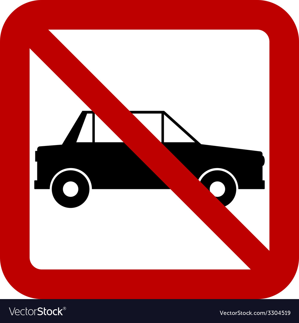 No car sign vector | Price: 1 Credit (USD $1)