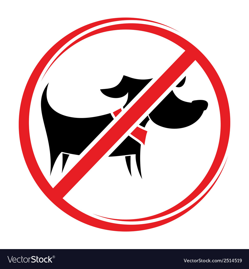 No dogs allowed1 vector   Price: 1 Credit (USD $1)