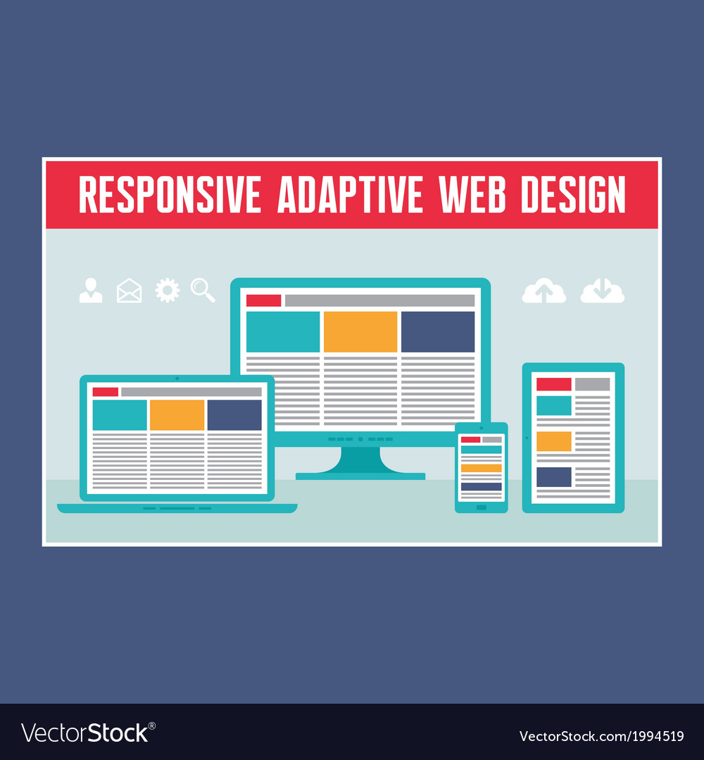 Responsive adaptive web design vector | Price: 1 Credit (USD $1)