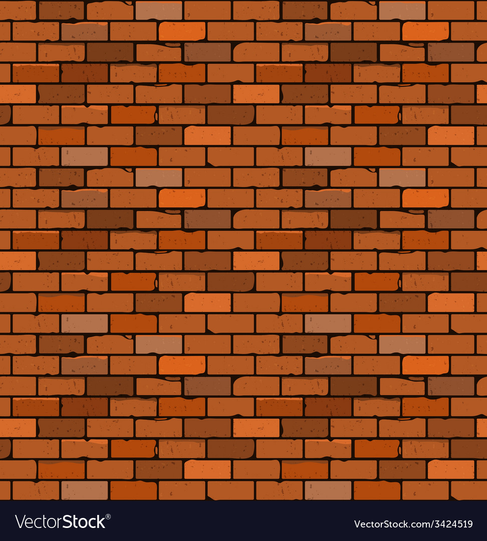Seamless pattern of red brick with cracks and vector | Price: 1 Credit (USD $1)