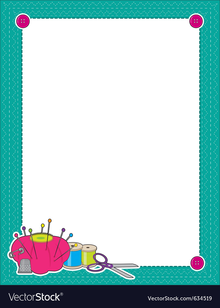 Sewing border vector | Price: 1 Credit (USD $1)