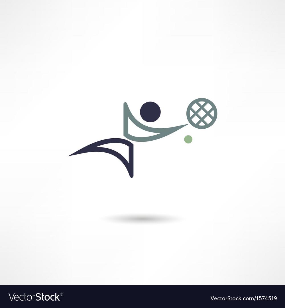 Tennis icon vector | Price: 1 Credit (USD $1)