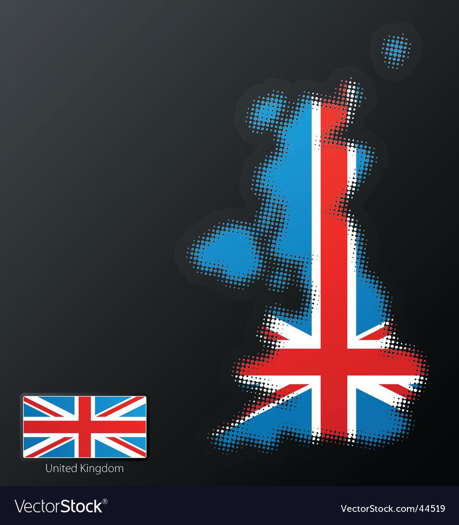 United kingdom map vector | Price: 1 Credit (USD $1)