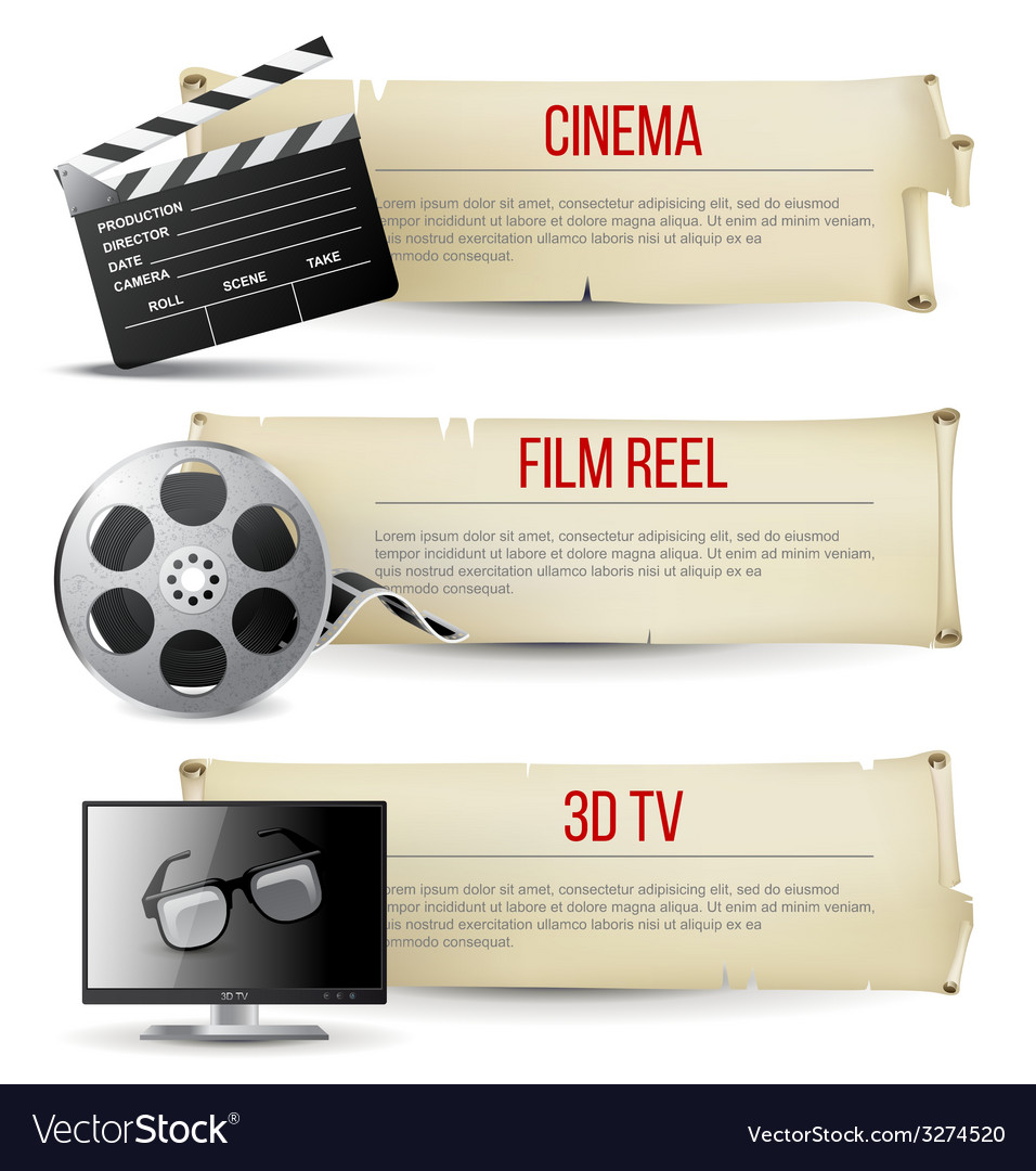 Cinema banners vector | Price: 1 Credit (USD $1)